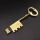 Custom gold key shape usb stick key antique for 8gb 16gb