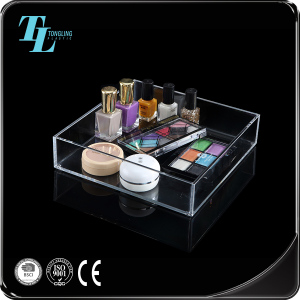 Hot selling clear acrylic make up organizers cosmetic plastic box