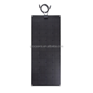 Semi flexible solar panel Only 2mm thickness 100W flexible solar panel