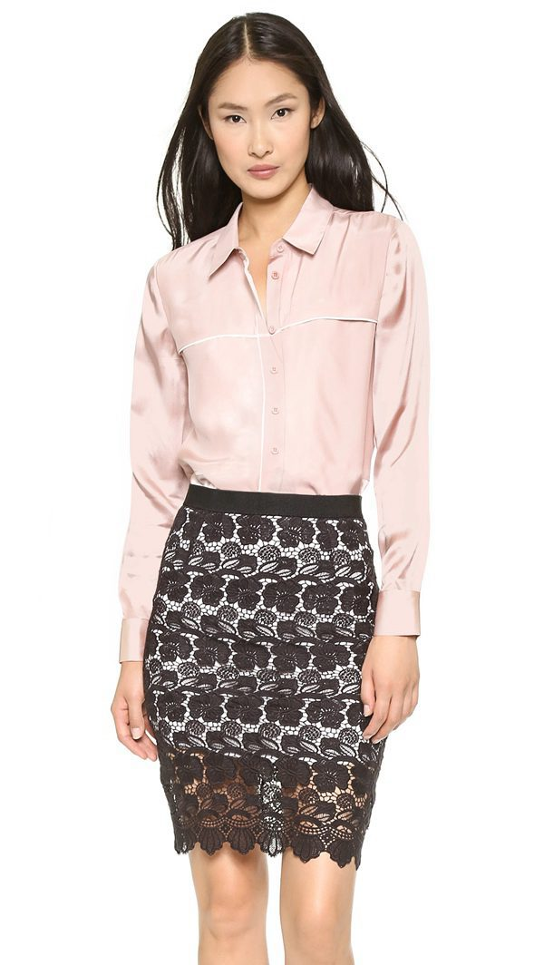 91b70af650d6b3 Beautiful For Women Blouses Retro Contrast Color Point Collar Blouse