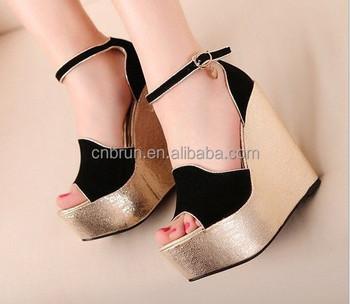 Brun 15cm Super High Heels Wedges