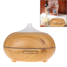 14W 300mL Wood Grain Aromatherapy Air Purifier Humidifier with LED Light for Office