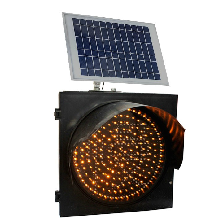 Solar Traffic Signal Flashing Light Warning Light IP 65 Solar Charging Light