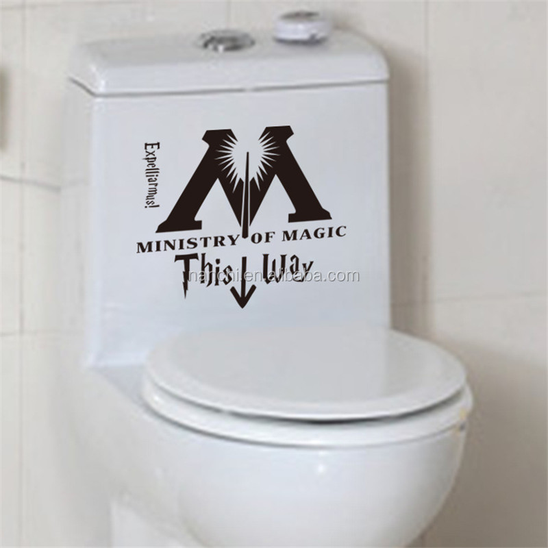DIY this way toliet Sticker home decorative glow in the dark cheap wall mural waterproof removable decal