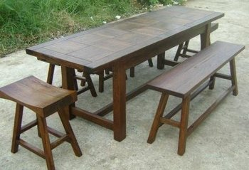Recycled Australian Timber Narrow Extending Table