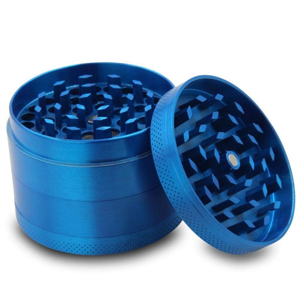523aa2ed5 Get Quotations · Kemilove 4-layer Aluminum Herbal Herb Tobacco Grinder  Smoke Grinders (Blue)