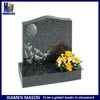 Upright headstones with laser enqraving picture