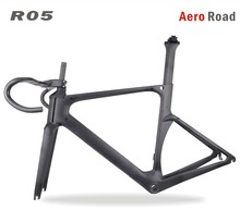 Miracle 2017 <span class=keywords><strong>AERO</strong></span> super licht 700c Carbon Road Frame Kits R05 Road Carbon Bike Frames