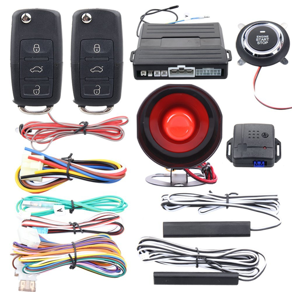 Get Quotations · EASYGUARD smart key car alarm system passive keyless entry  auto start keyless go system vibration alarm