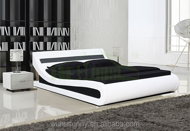 Modern Italian Enzo Curve Leather Bed With Led Light Buy