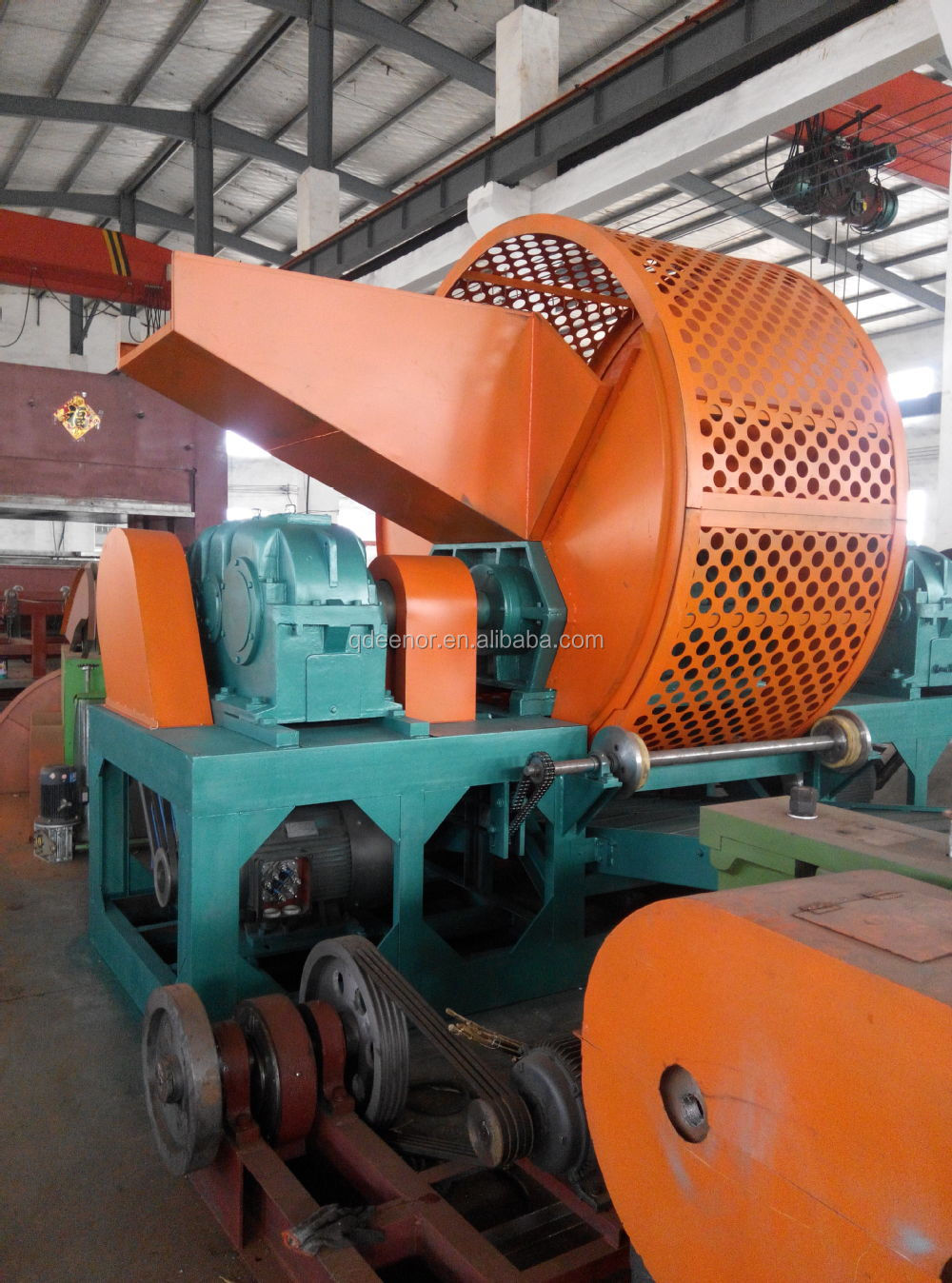 Used Tire Recycling Line/rubber Powder Compression Molding Machine ...
