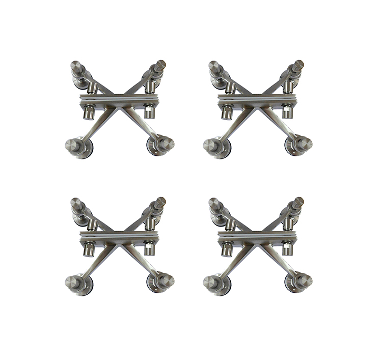 Bulk wholesale simple 4 ways stainless steel glass spider canopy hardware