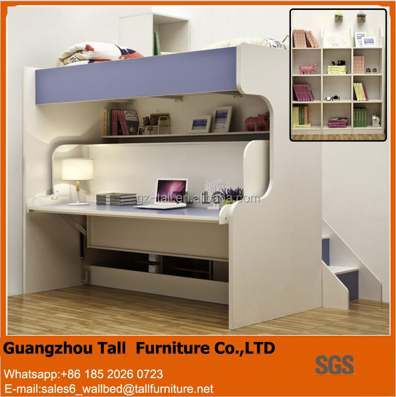 Leuke kids muur bed glijbaan bed murphy stapelbed met - Stapelbed met geintegreerd bureau ...