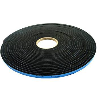 "The Felt Store F-INVNT722-R-1/4X50X1/2 Urethane High Density Foam Tape Roll, 50' Length x 1/2"" Width, 1/4"" Thick (Case of 12)"