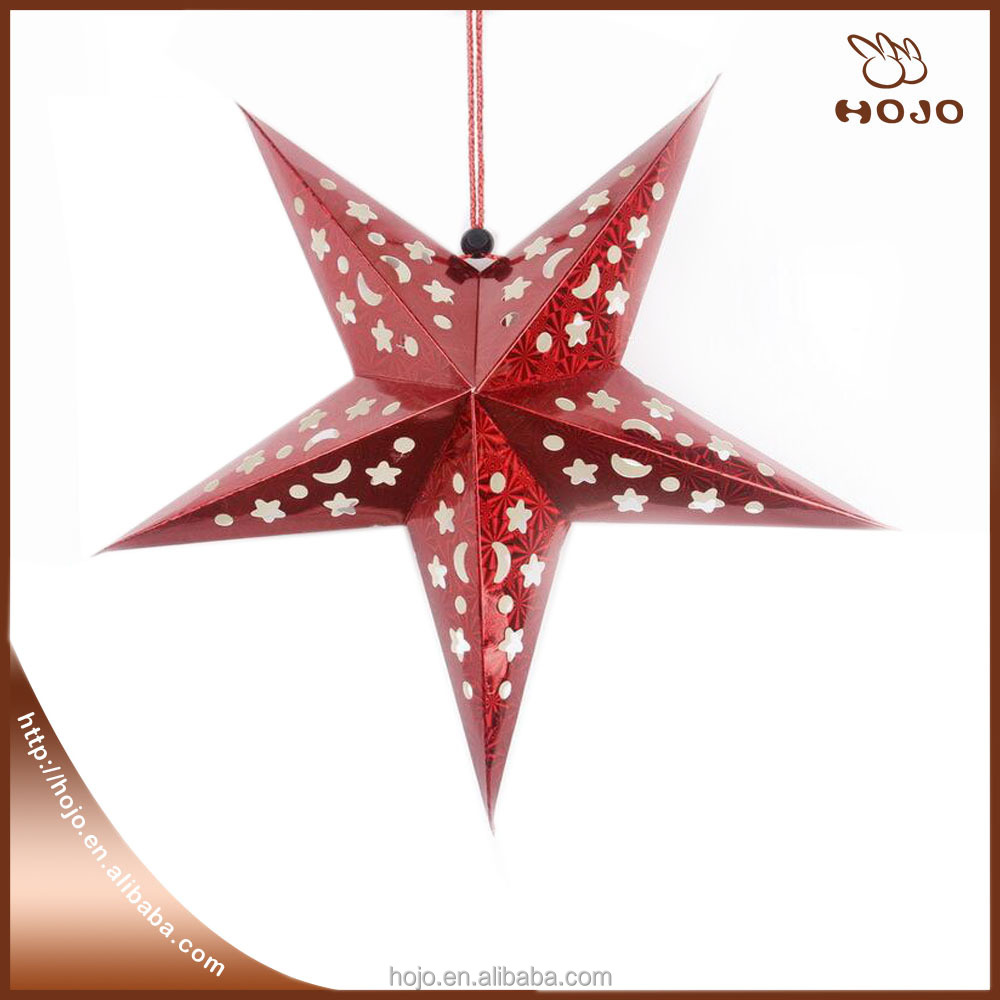 Christmas Supply 30CM/40CM/60CM/90CM Shiny star Paper lanterns Party Decor Craft For Wedding Decoration