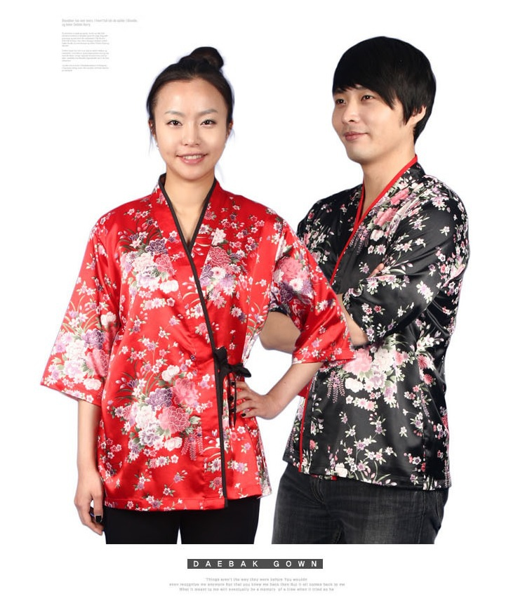 Sushi chef uniform mens kimono shirt mens chef coats japanese restaurant uniforms japanese style chef uniform