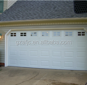 Guangzhou electric sectional garage door, garage doors insulated wood looking