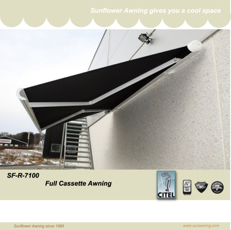 Sf R 7100 Full Cassette Awning   Buy Folding Arm Awning,Retractable Awning,Remote  Control Awning Product On Alibaba.com