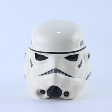 SW OEM stromtrooper 3D shaped cookie jar ceramic made in china