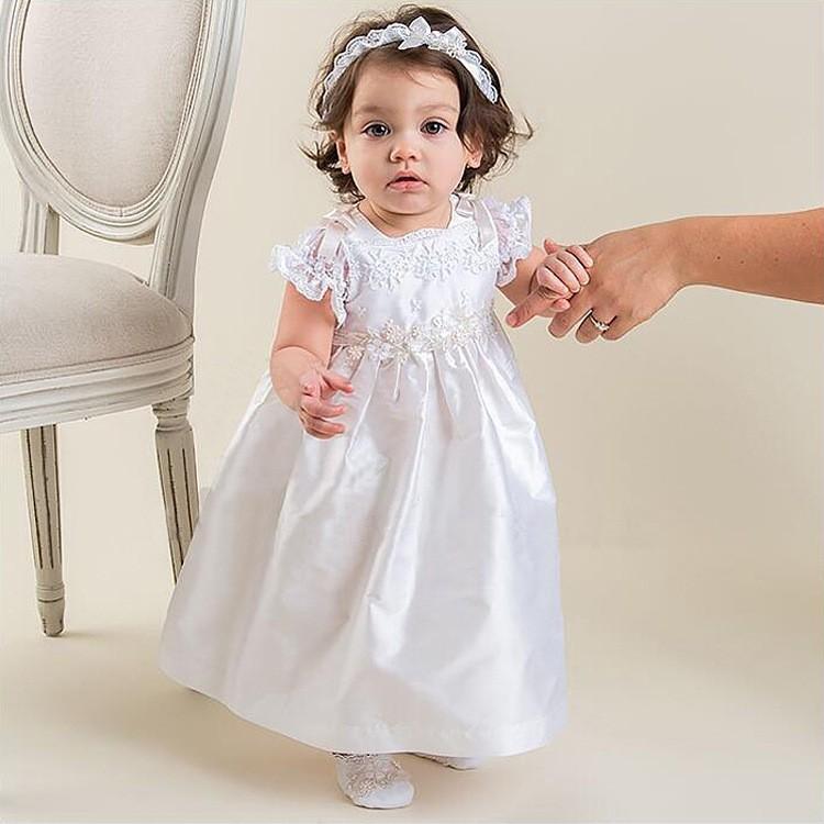 1195c2492 Verano de 2016 de bautizo de bebé niña vestidos 1 año vestido de cumpleaños  de encaje