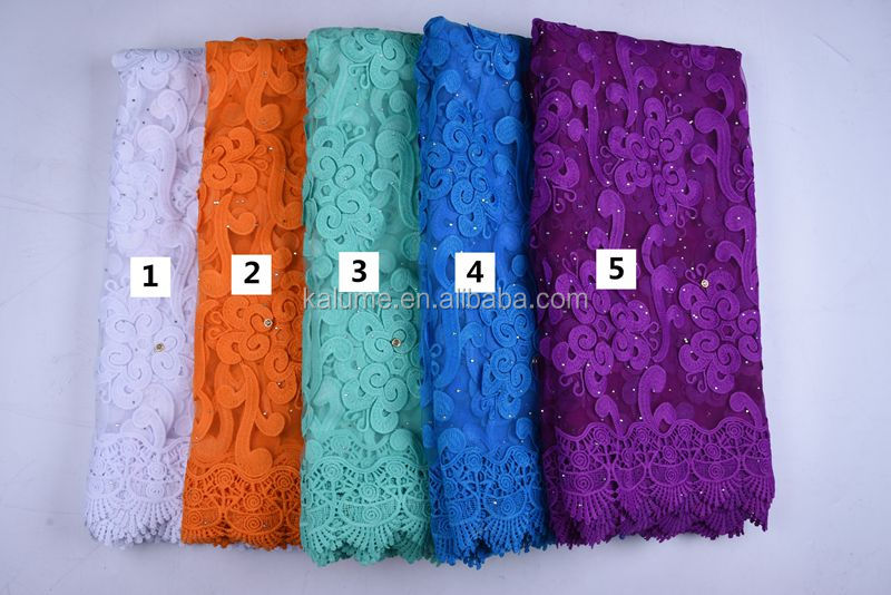 Wholesale African Milk Lace Fabric With Rhinestones For Party Dress Embroidery Nigerian Tulle Net Lace With Appliques  1670