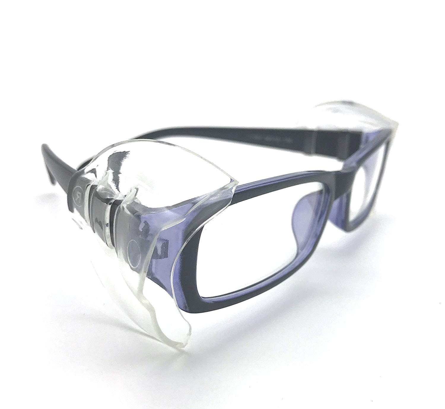 372ac6d0d2 Get Quotations · Wakaka 4 Pcs Small to Medium Eye glasses Safety Glasses  Side Shields Side shields for safety