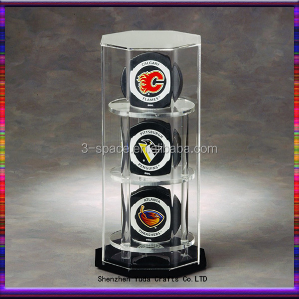 Display Cases Baseball Hockey Puck Display Case Sturdy Construction Autographs-original