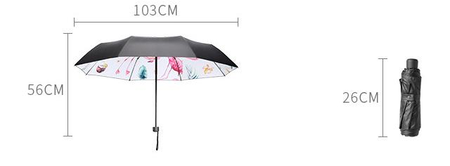 Wholesale Price with Stock and Small order Dual-purpose umbrella flamingo 3 folding umbrella