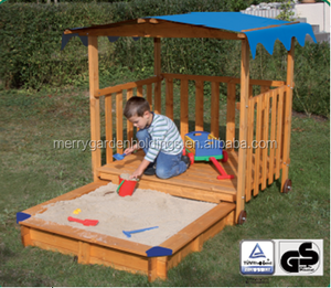 wooden sandbox for children