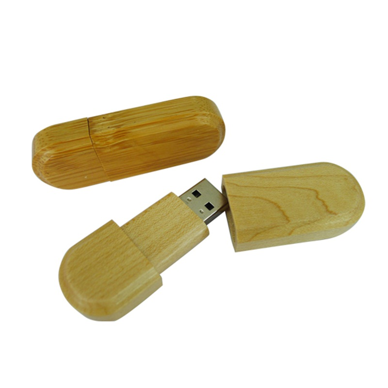 Wood USB Flash Drive with Wooden Box U Disk with Laser Engraved