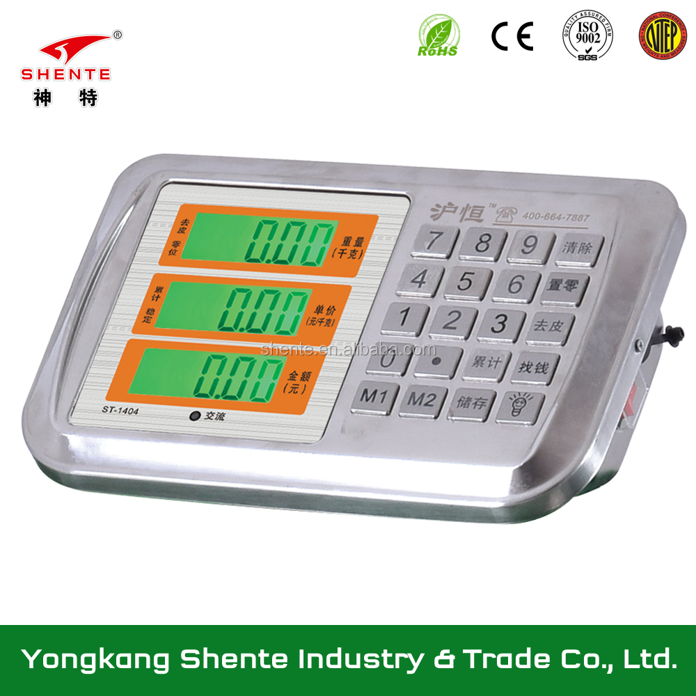 1404 model stainless steel price indicator for platform scale