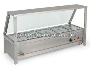 [Tontile] Five Pans Counter top buffet food warmer with display function restaurant bain marie prices