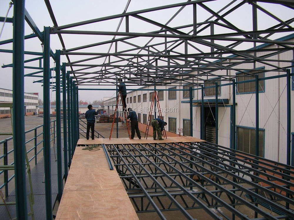 Low Cost Cheap Temporary Prefabricated house at construction site