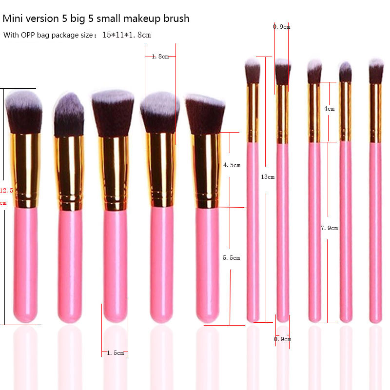 Make-up Borstel Set Beste Prijs 10 stuks Custom Logo Leuke Make-Up Kwasten Nieuwste 2019 Private Label Make-Up Borstel Sets