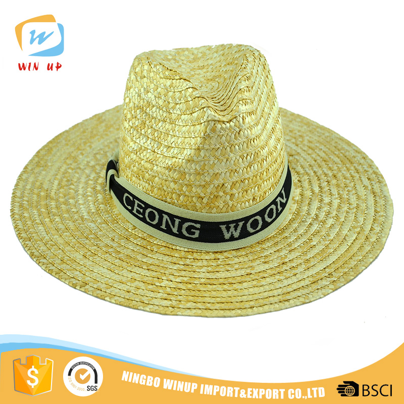 Summer mexican style wide brim hat men sombrero straw hat