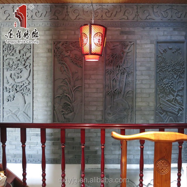 Chinese hand carved stone relief decorative wall covering panels