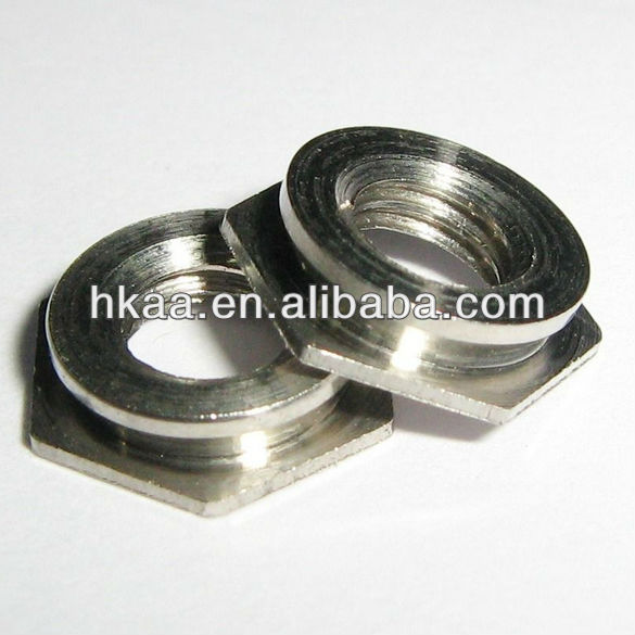 china competitive price custom furniture hardware stainless steel hexagon self-clinching flush nuts vendor