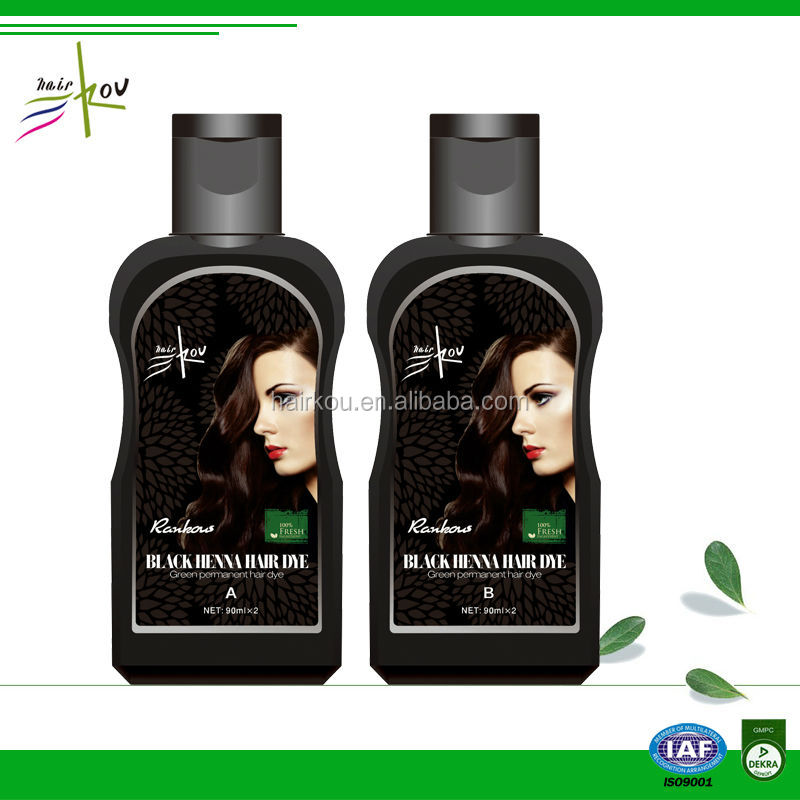Rankous Hair Dye Hair Color Shampoo Dye 5 Mins Dye Black Hair ...
