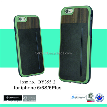 Wood phone case wholesale mobile phone leather case for iphone 6s