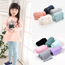 2015 new arrive Candy color dot girls leggings Toddler classic Leggings 2-13Y children trousers baby  kids leggings girl pants