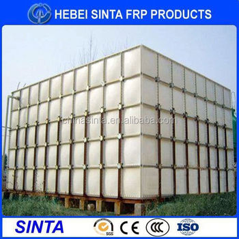 Big Size Construction Site Grp Sectional Water Tank Water Softener ...