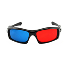Popular RealD cinema 3D movie anaglyph red cyan glasses red blue glasses