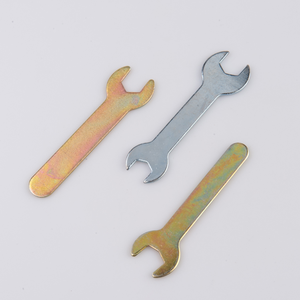 Hot sale OEM carbon steel stamped tools striking single open ended flat torque spanner wrench for hex fastener