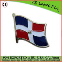 FREE digigal proof design custom Dominican Republic Flag Lapel Pin