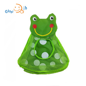 Eco-friendly Non-toxic Nylon Toy Storage Mesh Bag With Cute Animal Shape for Kids Toys Organizer