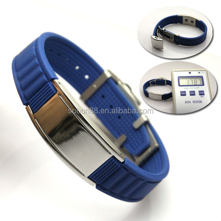 Negative Ion Silicone Bracelet China+supplier