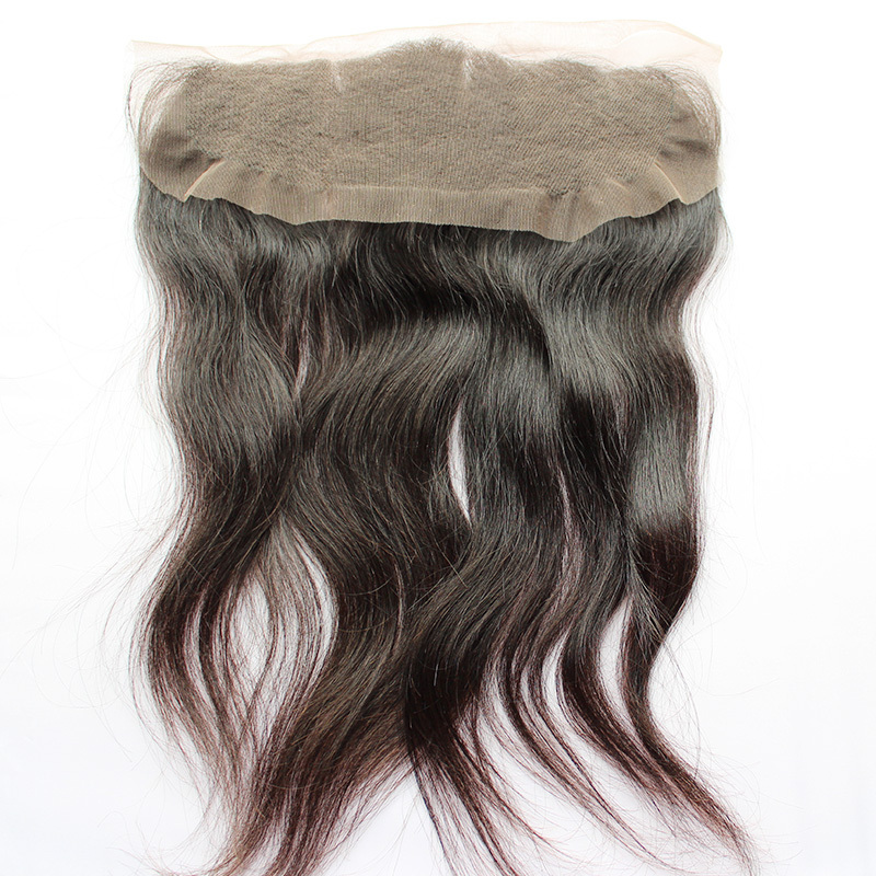 "Unprocessed mongolian hair 13""x4"" top quality ear to ear full lace frontal closure"