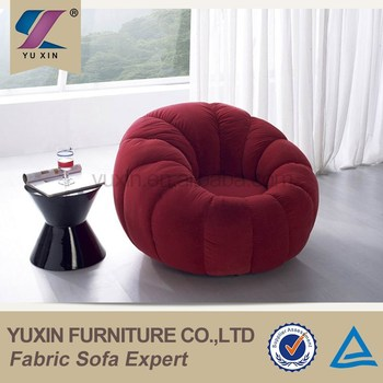 Luxury Velvet Single Wooden Sofa Chair/round Mini Sofa Chair