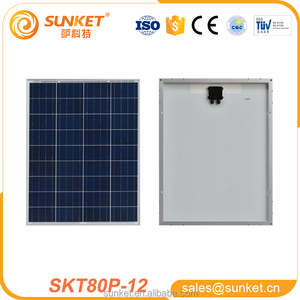 cheap safe flexible 80w poly solar panel authoritative certification tuv iso ce