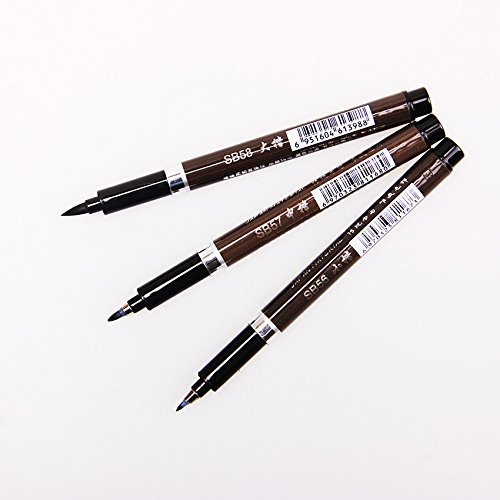 Brush Pen Black Black Brush Pen - 3 Pcs/Set Quality Chinese Calligraphy Brushes Pen Office Painting Pens Creative Painting Supplies - Black Paint Brush Pen